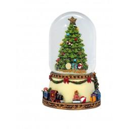 Arbol de Navidad en bola de nieve