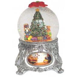 Bola de nive arbol de Navidad