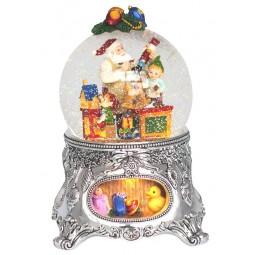 Bola de nieve con taller de Papa Noel